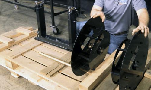 (video) NTM Gutter Machine Component Installation: Turnstile & Reel