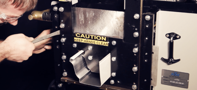 "(video) Shear Adjustment: NTM MACH II™ 5""/6"" Combo Gutter Machine"