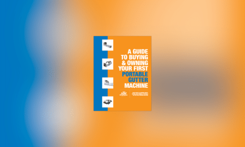 (article) NTM Publishes E-Book on Buying and Owning a Portable Gutter Machine
